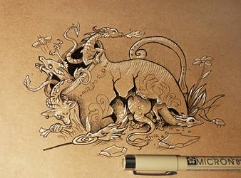 Little dragons by AlviaAlcedo