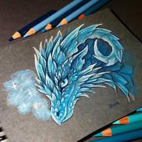 Ice dragon by AlviaAlcedo
