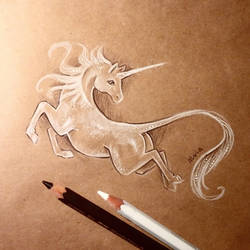 White unicorn by AlviaAlcedo