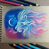 Dreaming lion by AlviaAlcedo