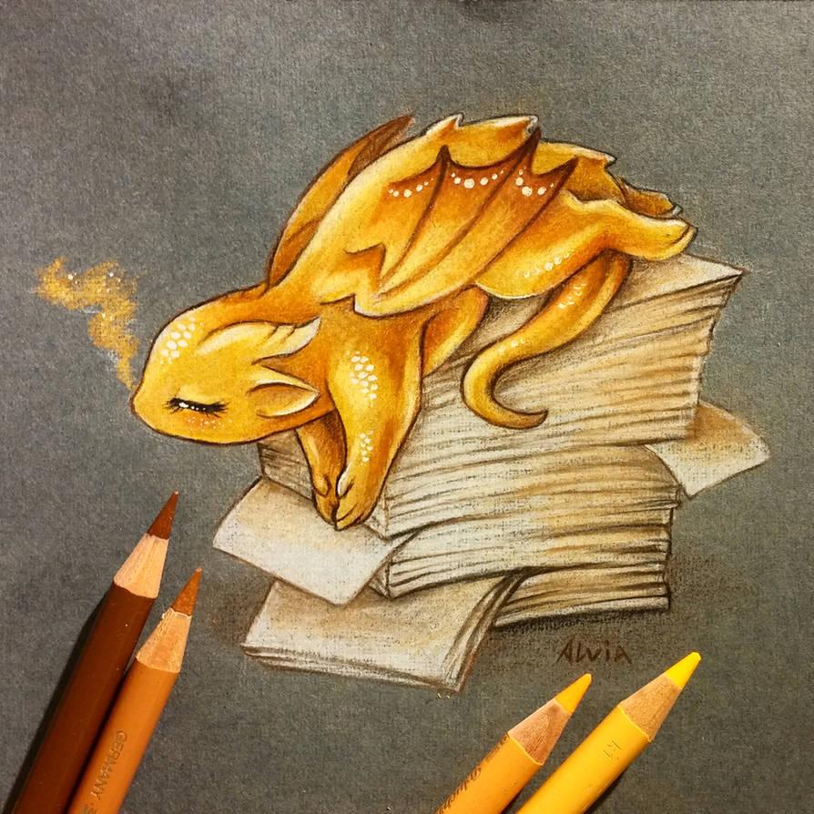 Lazy dragon by AlviaAlcedo