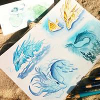 Sea dragons by AlviaAlcedo