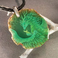 Green forest dragoness by AlviaAlcedo