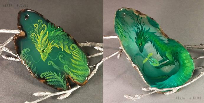 Dragons of greenery by AlviaAlcedo