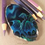 Crystal dragon of northern lights