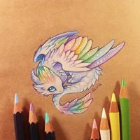 Little angel dragon by AlviaAlcedo