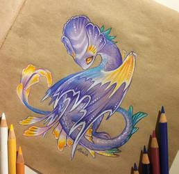 Flower dragon by AlviaAlcedo