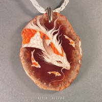 Koi dragon pendant by AlviaAlcedo