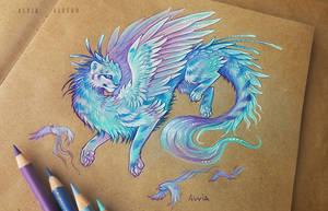 Dragon cat by AlviaAlcedo