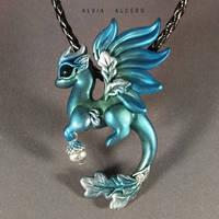 Oak silver dragon by AlviaAlcedo