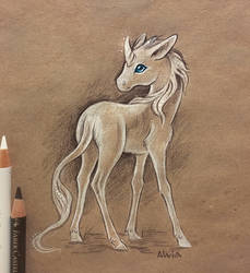 Little unicorn by AlviaAlcedo