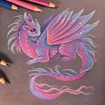 Fairy baby dragon
