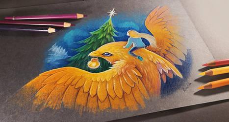 Golden dolphinbird by AlviaAlcedo