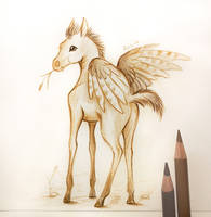 Winged foal by AlviaAlcedo