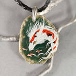 Three colored Koi dragon