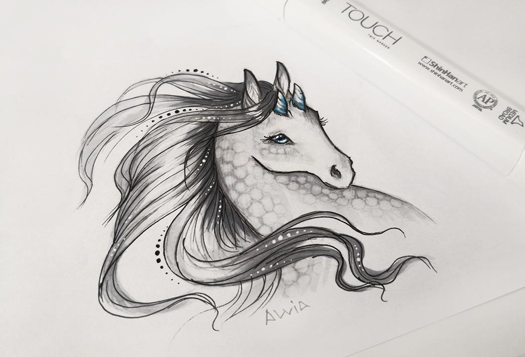Fantasy horse by AlviaAlcedo