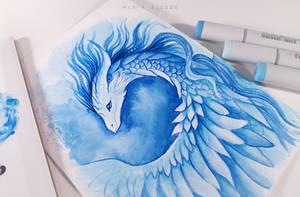 Blue dragon by AlviaAlcedo