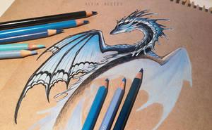 Butterfly dragon by AlviaAlcedo