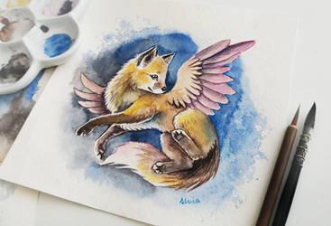 Little fox by AlviaAlcedo