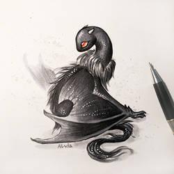 Black drake by AlviaAlcedo