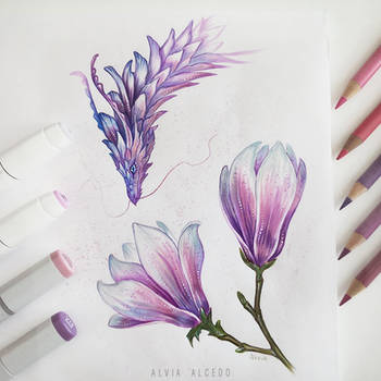 Magnolia dragon by AlviaAlcedo