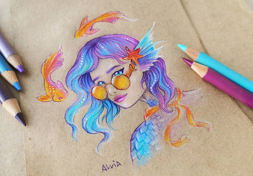 Extravagant mermaid