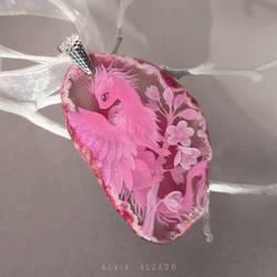 Pink sakura dragon
