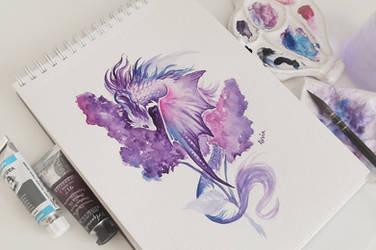 Lilac dragon by AlviaAlcedo