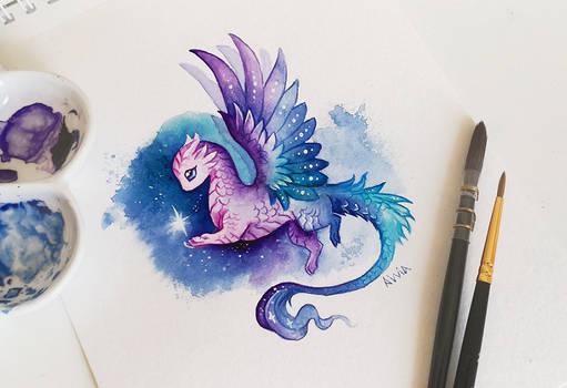 Space dragon by AlviaAlcedo