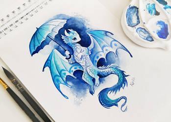 Umbrella dragon by AlviaAlcedo