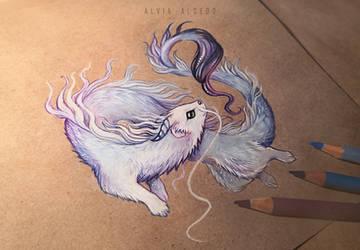 Ermine dragon by AlviaAlcedo