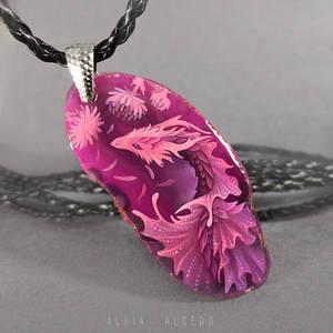 Flower dragoness - pendant
