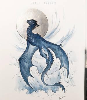 Inktober 12 Dragon by AlviaAlcedo