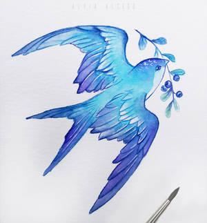 Blueberry bird