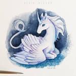 Young winged unicorn