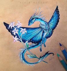 Blue morpho dragon