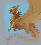 Giant dragon sketch