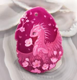 Pink sakura dragoness