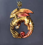 Golden dragon pendant