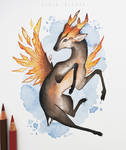 Fire crystal black muntjac
