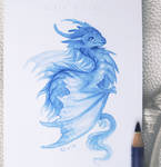 Sky blue wyvern