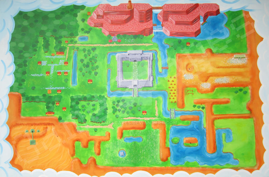 Link To The Past Light World Map.Zelda A Link To The Past Light World Map By Gamescapes On Deviantart
