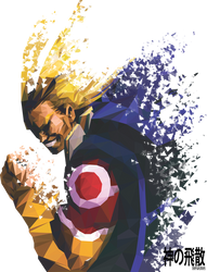 All might - Splatter Low Poly Effect by jezreelian10