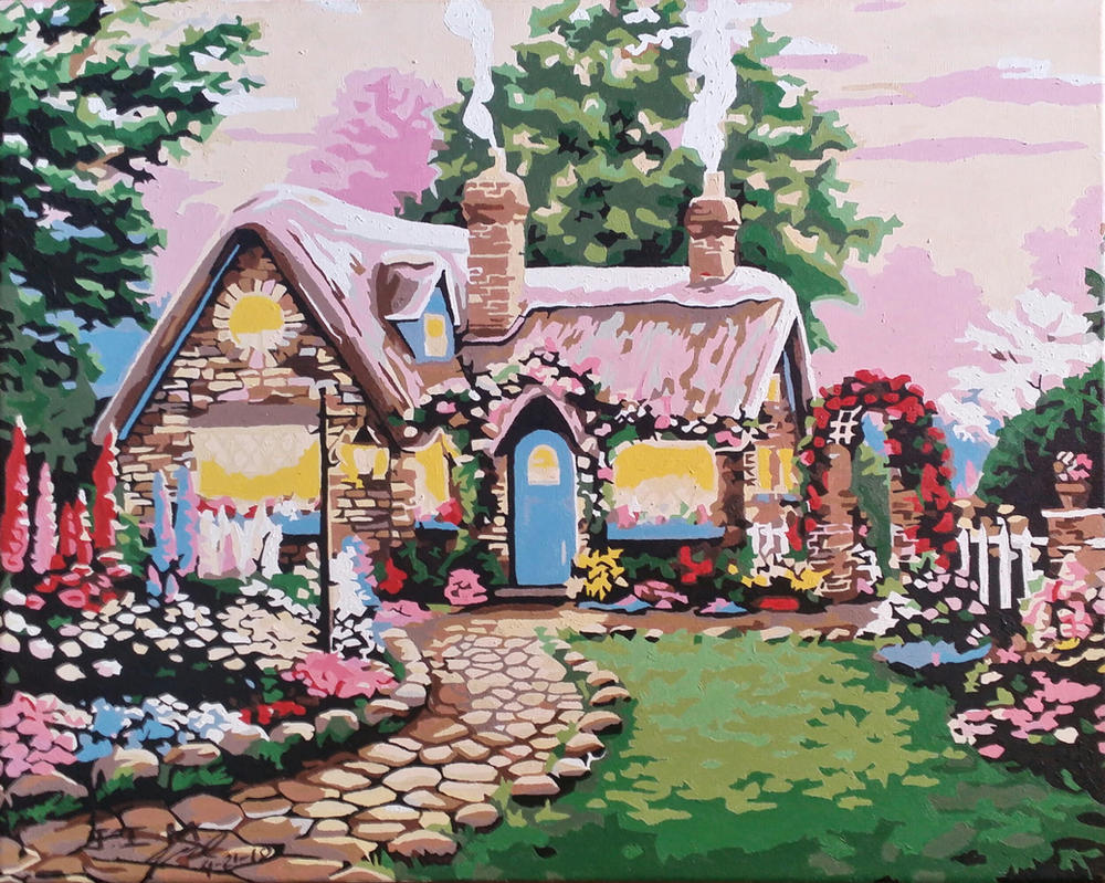Gingerbread House Concept - Acrylic Painting by jezreelian10