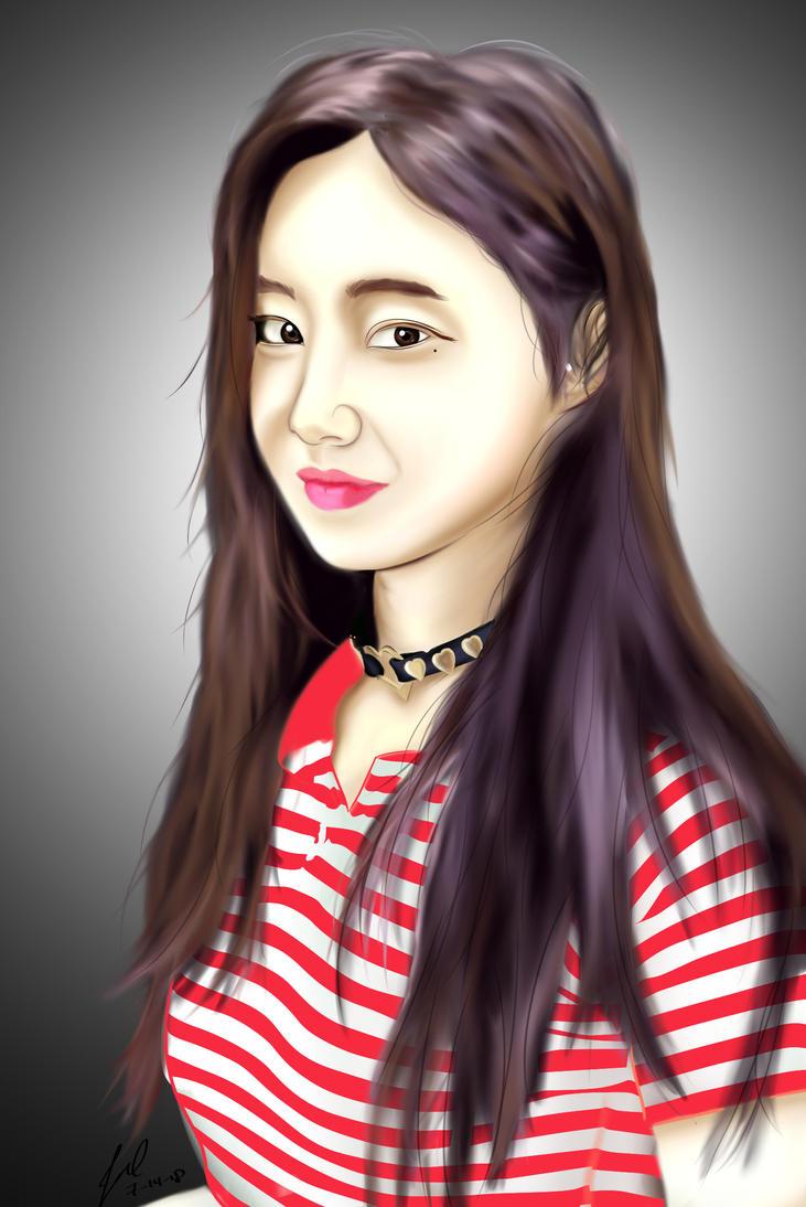 Yeonwoo_Momoland Digital Painting by jezreelian10