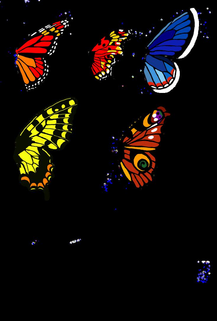 butterfly wing bases set 1 by moondragonwings on deviantart