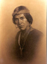 Portrait of a Navajo Warrior by rhodeisle