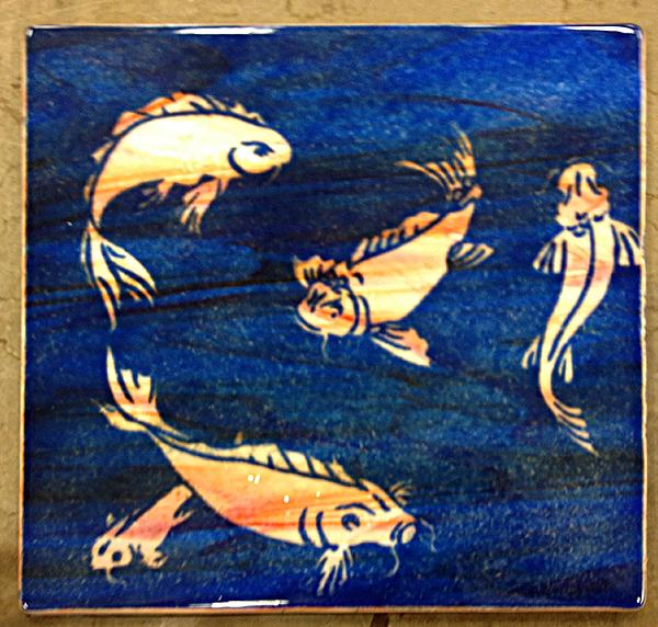 Glass Fusing: Koi Fish by Mysticalpchan