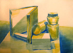 Watercolor Still life of Misc Stuff