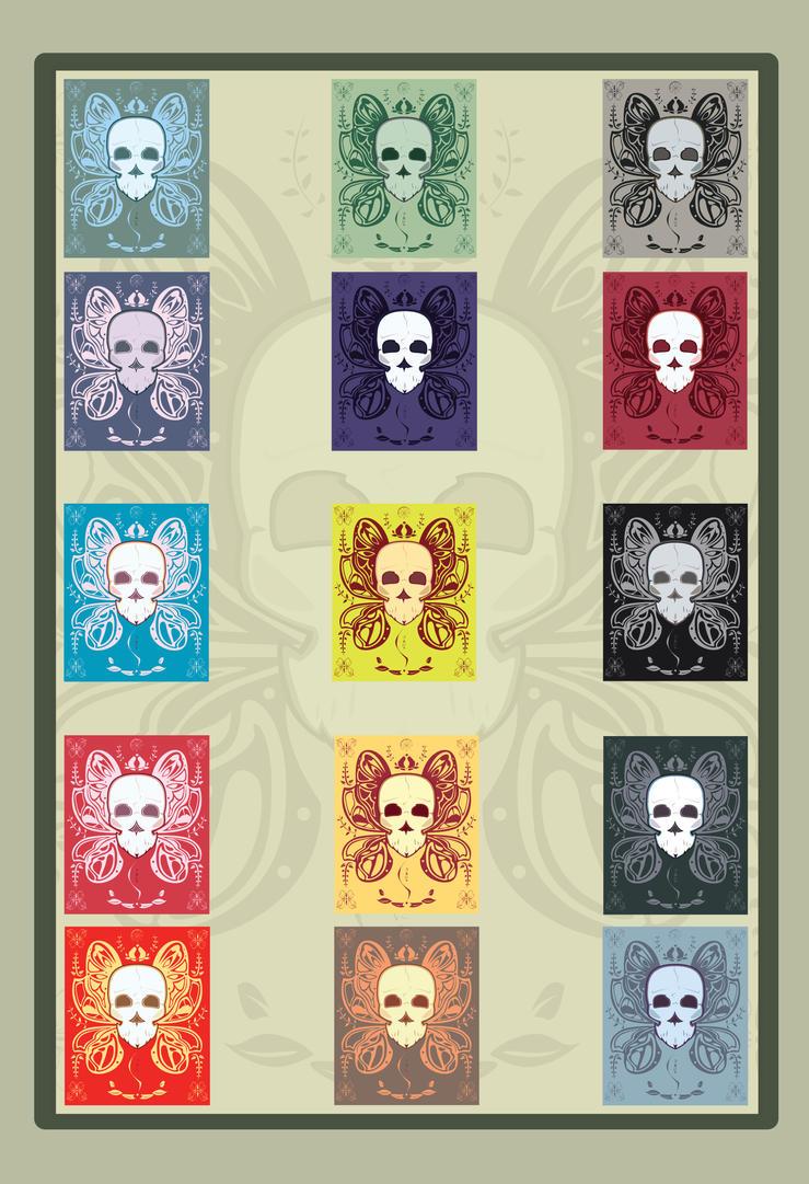 jolly skull multi poster by Zonkpunch